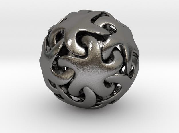 Starfish ball in Polished Nickel Steel