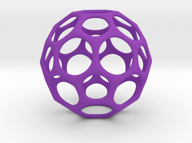 Soccer Ball Smooth in Purple Processed Versatile Plastic