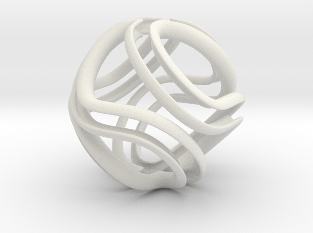 Twisted Infinite in White Natural Versatile Plastic