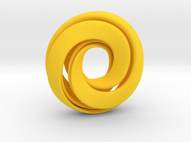 Singularity Mobius Sliced in Yellow Processed Versatile Plastic