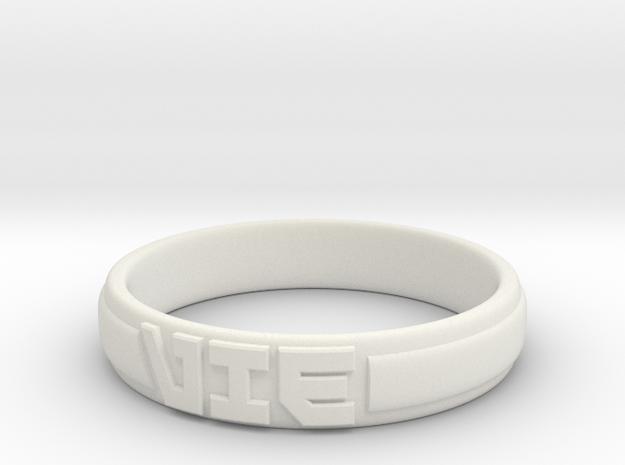 VIE Ring in White Natural Versatile Plastic