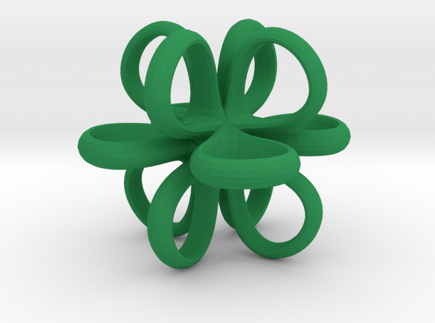 1 Inch Loop Cube Smooth in Green Processed Versatile Plastic