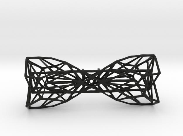 Geometric Bow Tie  in Black Natural Versatile Plastic