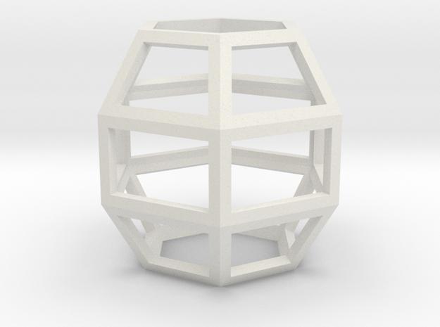Hexah2 in White Natural Versatile Plastic