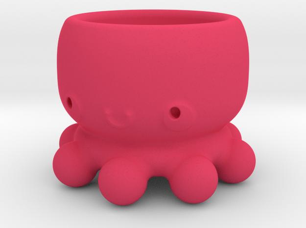 Kawaii Octopus in Pink Processed Versatile Plastic