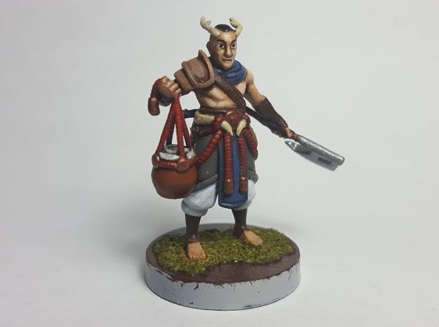 Elf Primal Barbarian in Smooth Fine Detail Plastic