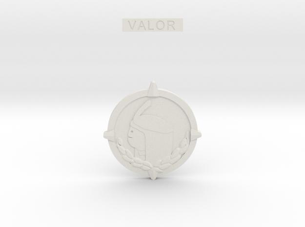 Medal in White Natural Versatile Plastic