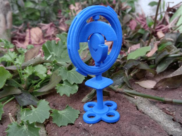 Pokestop in Blue Processed Versatile Plastic