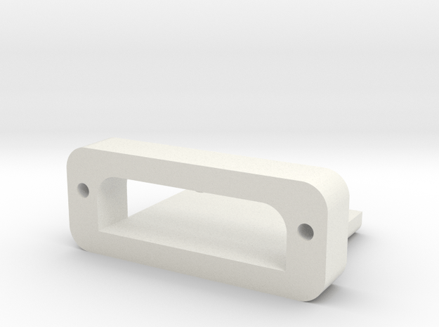 DNA60 USB Mounting Plate in White Natural Versatile Plastic