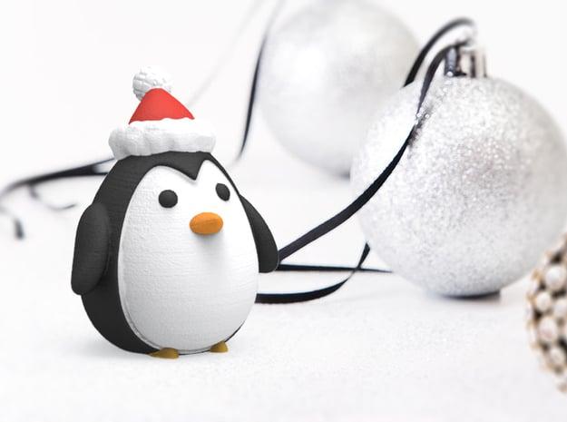 Holiday Penguin in Full Color Sandstone