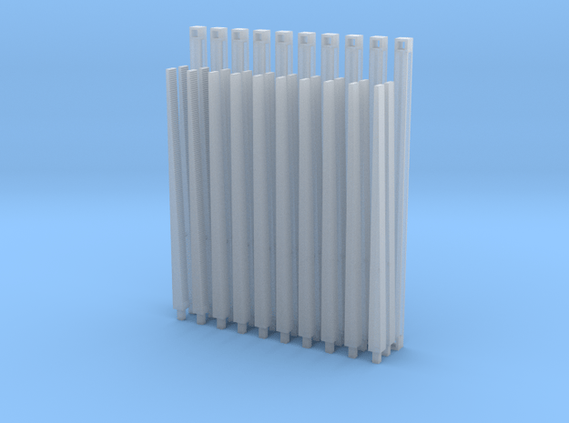 1/87 HO Eastern US logging bunks (Pelletier) in Smooth Fine Detail Plastic