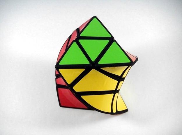 TriCopter Twist Puzzle in White Natural Versatile Plastic