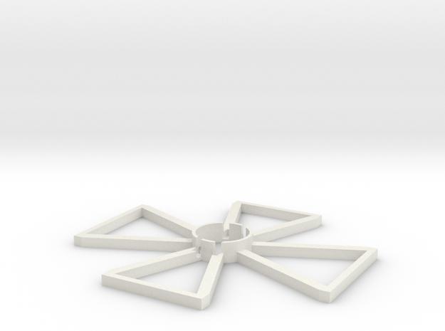 Large Targeting Arc in White Natural Versatile Plastic