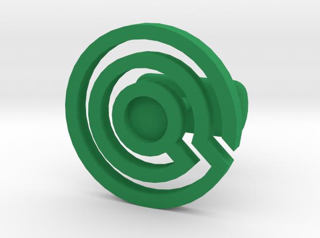 Labyrinth Cufflink Light in Green Processed Versatile Plastic