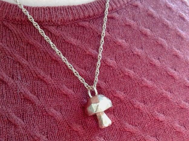 Mushroom low poly pendant