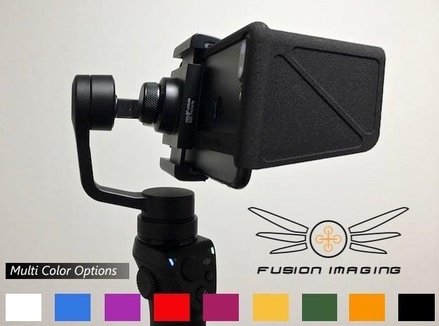 iPhone 7 Visor/FPV Hood SE in Black Natural Versatile Plastic