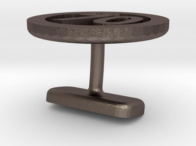 Cufflink 70 in Polished Bronzed Silver Steel