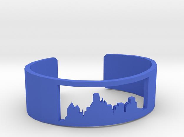 Dallas Skyline Bracelet in Blue Processed Versatile Plastic