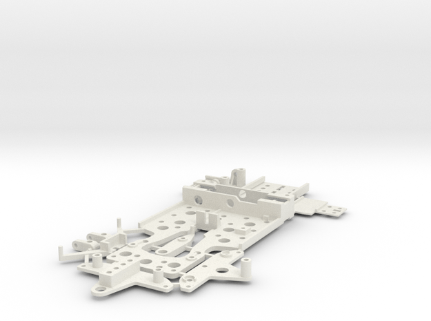 CK2 Chassis Kit for 1/32 Scale Large MagRacing Car in White Natural Versatile Plastic