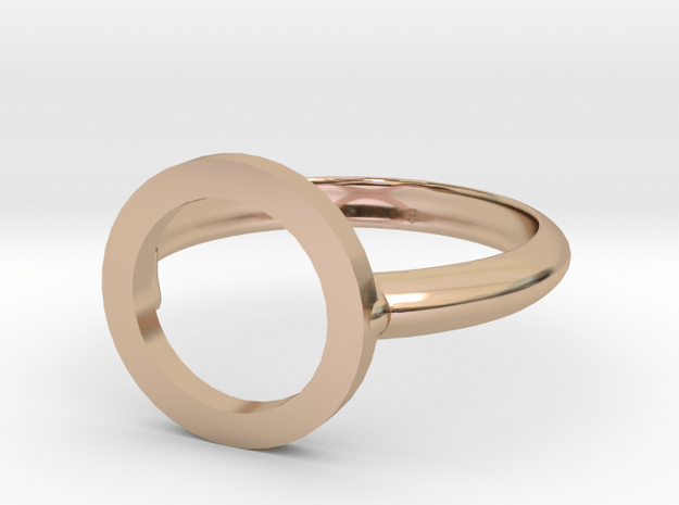 O Ring in 14k Rose Gold Plated Brass