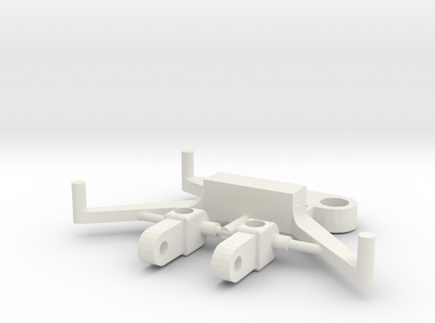 SP4 Spare Parts for CK4 Chassis Kit in White Natural Versatile Plastic
