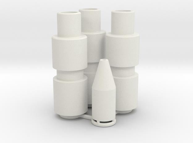 Knee Darts Set in White Natural Versatile Plastic