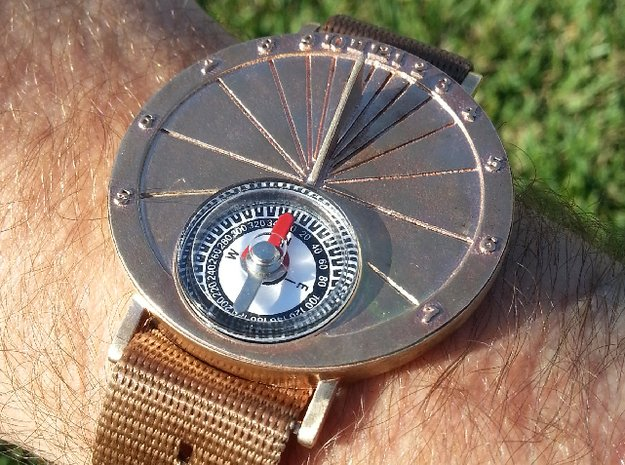 27.75N Sundial Wristwatch For Working Compass