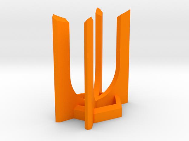 HEXA Lightsaber Display Stand in Orange Processed Versatile Plastic