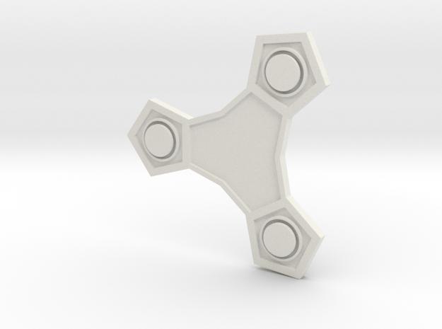 Tri-Streak-Star-Medal in White Natural Versatile Plastic