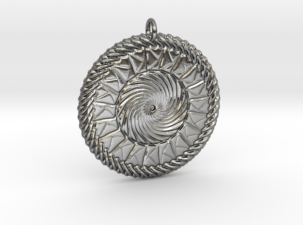 Calming Fusion Medallion in Polished Silver