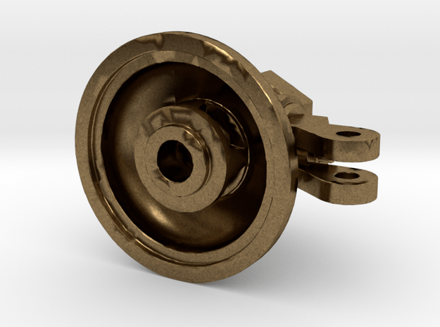"""1.5"""" Scale 5 Chime Whistle Base in Natural Bronze"""