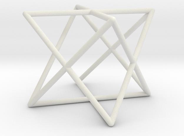 Star Tetrahedron D1 in White Natural Versatile Plastic