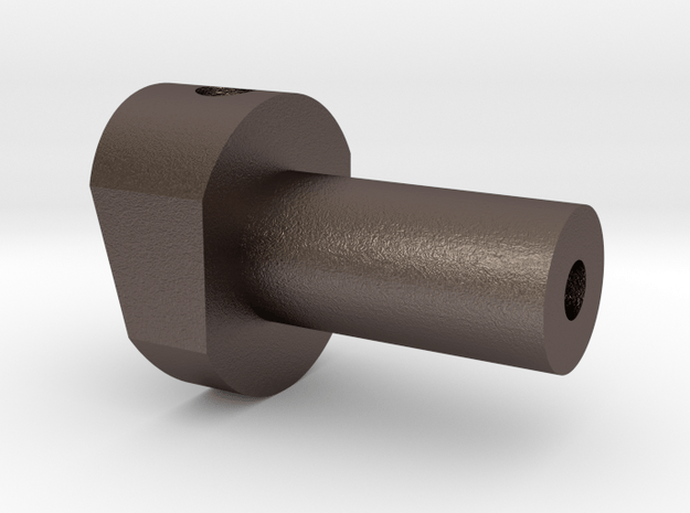 Swivel, Trailing Arm, Bullet Racing in Polished Bronzed Silver Steel