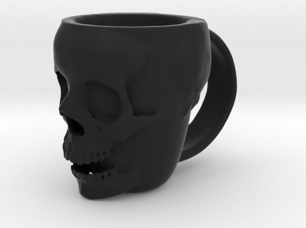 Skull Head Mug in Black Natural Versatile Plastic