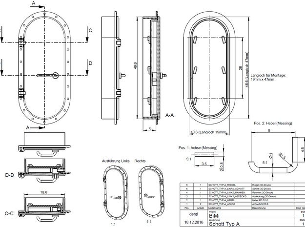 Schott Typ-A Links 1:40 in Smooth Fine Detail Plastic