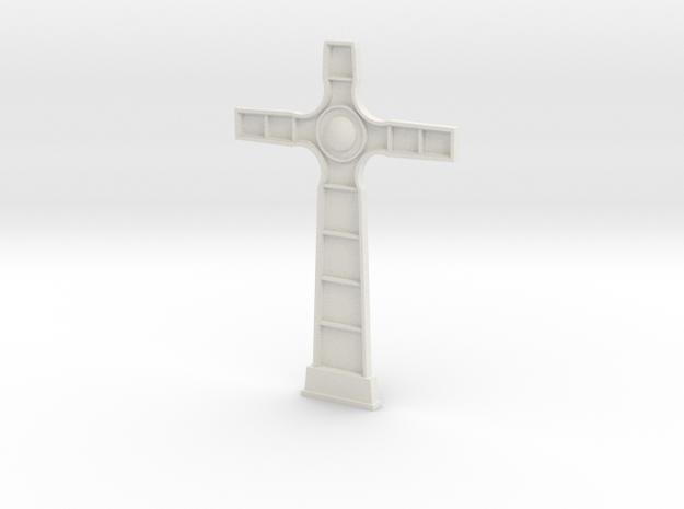 18th century cross face in White Natural Versatile Plastic