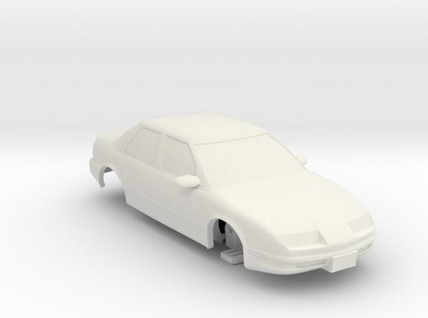 HO Slot Car 1992 Saturn SL2 - unibody chassis in White Natural Versatile Plastic
