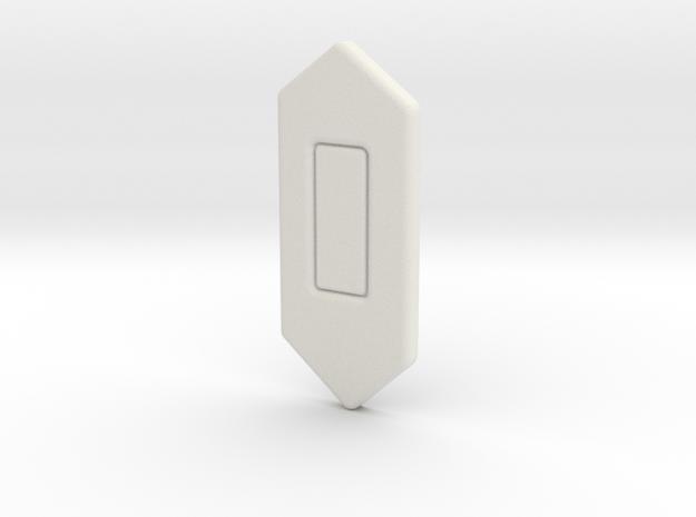 Boba Fett Center Diamond in White Natural Versatile Plastic