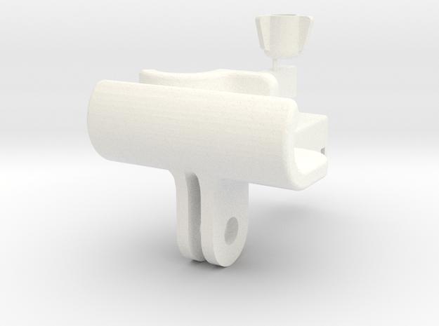 iPhone To GoPro Mount in White Processed Versatile Plastic