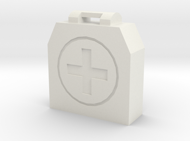 First AID Kit in White Natural Versatile Plastic
