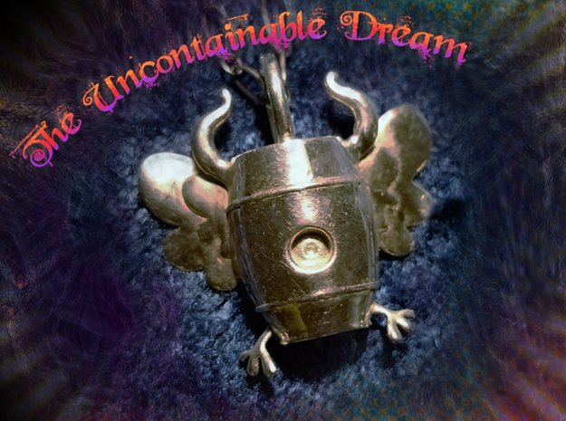 The Uncontainable Dream in Polished Silver