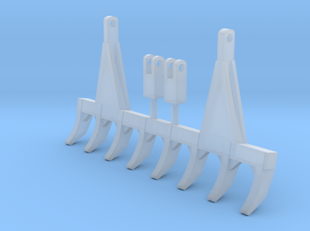 1/50 Scale 9ft pin on style dozer rake.  in Smooth Fine Detail Plastic