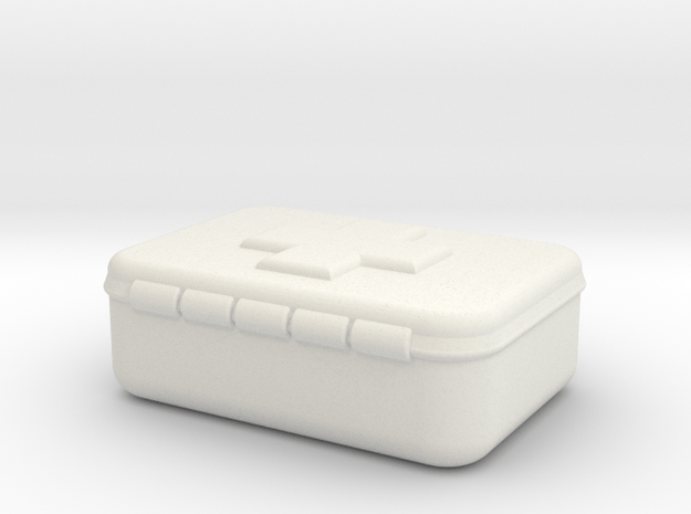 First Aid Kit 1/10th in White Natural Versatile Plastic