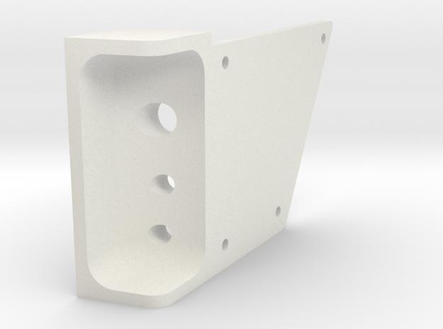 Right Rear Inner - SCX-10 II Light Bucket in White Natural Versatile Plastic
