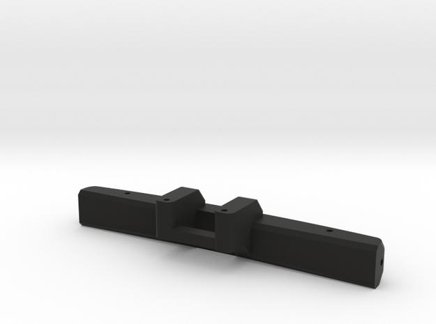 Sakura D3 - Rear Sub Bumper V2 in Black Natural Versatile Plastic