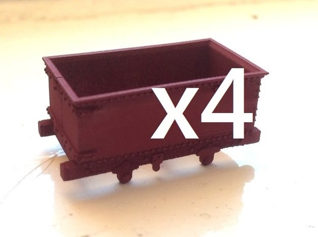 009 Corris Rly 'Queen Mary' X4 in Smooth Fine Detail Plastic