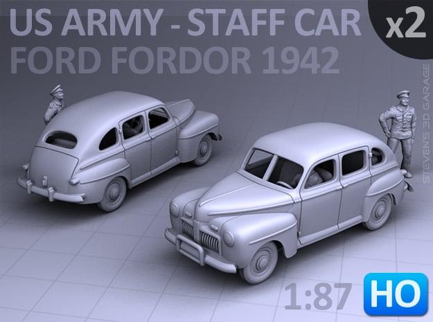 American Staff Car 1942 (HO) - 2 Pack