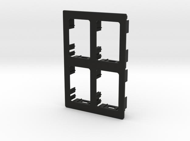 4 OEM Panel 91mmx61mm 2x2 configuration in Black Natural Versatile Plastic
