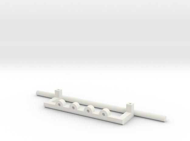 Scania Bull Bar - Type D in White Natural Versatile Plastic