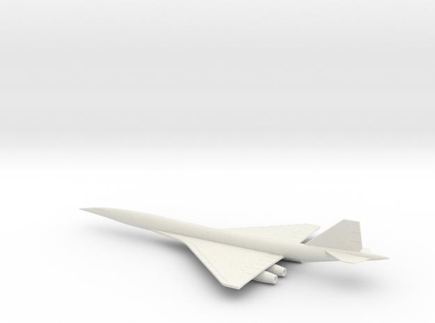 1/400 BOEING 2707-300 SUPERSONIC TRANSPORT SST in White Natural Versatile Plastic